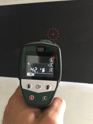 Heat Thermometer Test Of Heating Paint Installation.