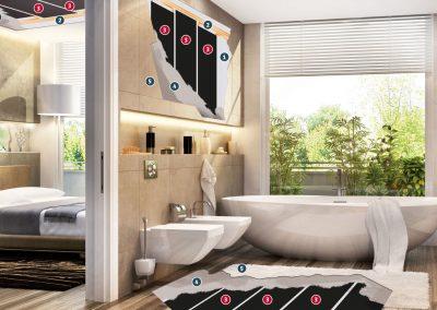 Installation Materirals Bathroom & Bedroom.